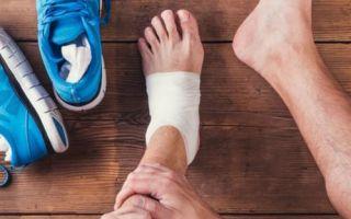 Признаки и лечение разрыва связок на ноге