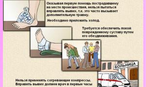 Первая помощь при различных видах травм